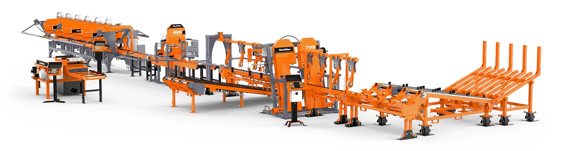 SLP1 Small Log Processing Line